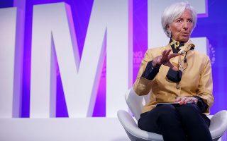 Η Κριστίν Λαγκάρντ, η οποία μετά το ΔΝΤ αναλαμβάνει το τιμόνι της ΕΚΤ, κάλεσε τους πολιτικούς ηγέτες να στηρίξουν την οικονομία με τη δημοσιονομική πολιτική τους και να αποφύγουν τις αυτοκαταστροφικές επιλογές.