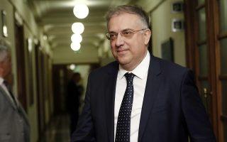Ο υπουργός Εσωτερικών Παναγιώτης Θεοδωρικάκος προσέρχεται στο πρώτο υπουργικό συμβούλιο στη Βουλή, Τετάρτη 10 Ιουλίου 2019. Κάθε υπουργός, στο σημερινό υπουργικό συμβούλιο, θα παραλάβει έναν φάκελο με τον εξαμηνιαίο σχεδιασμό του τομέα ευθύνης του, σύμφωνα με κυβερνητικές πηγές. Στον φάκελο θα περιγράφονται λεπτομερώς οι συγκεκριμένοι στόχοι που θα πρέπει να επιτευχθούν ανά υπουργείο μέχρι τον Δεκέμβριο και ο τρόπος της αξιολόγησης κάθε κυβερνητικής δράσης. ΑΠΕ-ΜΠΕ/ΑΠΕ-ΜΠΕ/ΑΛΕΞΑΝΔΡΟΣ ΒΛΑΧΟΣ
