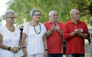 Δίδυμοι, στην  1η Πανελλήνια Συνάντηση Διδύμων οργανώθηκε στην πόλη των Τρικάλων, στο πάρκο του Αη Γιώργη,  την Κυριακή 22 Σεπτεμβρίου 2019.  Η πρωτοβουλία ανήκει στις τρικαλινές Κατερίνα και Αθανασία Φάλια, οι οποίες το συζήτησαν με τον Δήμο Τρικκαίων, που πρόθυμα προσφέρθηκε να συνδράμει. ΑΠΕ-ΜΠΕ/ΑΠΕ-ΜΠΕ/ΧΑΣΙΑΛΗΣ ΒΑΪΟΣ