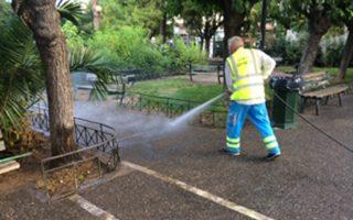 Εργάτες του δήμου πραγματοποίησαν καθαρισμό αλλά και αποκαταστάσεις όπου χρειαζόταν.
