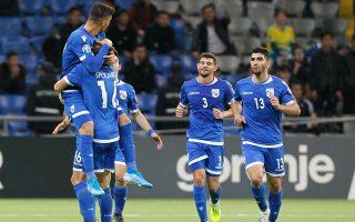 Σημαντική νίκη με ανατροπή επί του Καζαχστάν στην Αστανά σημείωσε η Εθνική Κύπρου με 2-1.