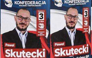 Προεκλογικές αφίσες στους δρόμους της Βαρσοβίας, ενόψει των εκλογών της Κυριακής.