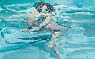 «Εραστές που κολυμπούν», τμήμα εργου που ο Αμερικανός ζωγράφος Ερικ Φιτσλ φιλοτέχνησε το 1984.