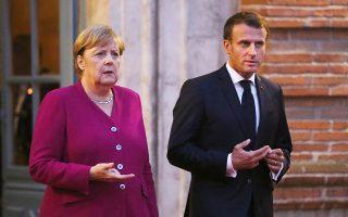 Μέρκελ και Μακρόν συναντήθηκαν χθες στην Τουλούζη ενόψει της σημερινής Συνόδου Κορυφής.