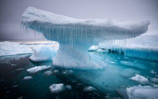 Όταν η φύση έχει κέφια στο Kap Tobin, στην ανατολική Γροιλανδία.