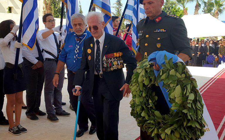 Συγκίνηση στο Ελ Αλαμέιν από τον Έλληνα 96χρονο βετεράνο του Β΄ Παγκοσμίου Πολέμου