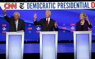 Οι «σταρ» υποψήφιοι για το προεδρικό χρίσμα των Δημοκρατικών – Μπέρνι Σάντερς, Τζο Μπάιντεν και Ελίζαμπεθ Γουόρεν