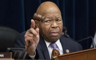 FILE - In this April 2, 2109 file photo, House Oversight and Reform Committee Chair Elijah Cummings, D-Md., leads a meeting to call for subpoenas after a career official in the White House security office says dozens of people in President Donald Trump's administration were granted security clearances despite