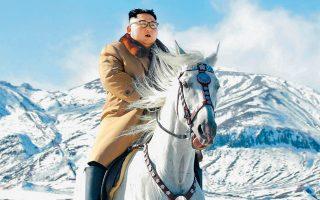 Σε ένα στιγμιότυπο γεμάτο κομματικούς συμβολισμούς, ο Βορειοκορεάτης ηγέτης Κιμ Γιονγκ Ουν απαθανατίστηκε χθες να ιππεύει το λευκό άλογό του στο χιονισμένο όρος Παεκτού, όπου σύμφωνα με τον θρύλο εγκαινίασε τον αγώνα του κατά των Ιαπώνων ο παππούς του και ιστορικός ηγέτης της χώρας, Κιμ Ιλ Σουνγκ, και γεννήθηκε ο πατέρας του, Κιμ Γιονγκ Ιλ.