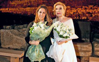Η Μαίρη Κατράντζου και η Μαριάννα Βαρδινογιάννη.