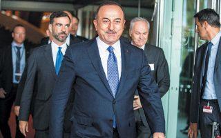 Ο Τούρκος υπουργός Εξωτερικών Μεβλούτ Τσαβούσογλου, χθες, στο Συμβούλιο της Ευρώπης στο Στρασβούργο.