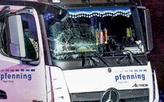 Το κλεμμένο φορτηγό διήνυσε μερικά μέτρα και έπεσε στα προπορευόμενα αυτοκίνητα χωρίς φρένο.