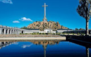 Το Μαυσωλείο στην Κοιλάδα των Πεσόντων, στα περίχωρα της Μαδρίτης, τόπος ταφής του Ισπανού δικτάτορα.
