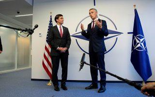 Ο επικεφαλής του Πενταγώνου Μαρκ Έσπερ και ο Γενικός Γραμματέας του ΝΑΤΟ Γενς Στόλτενμπεργκ ξεκαθάρισαν ότι δεν πρόκειται «να αρχίσουν πόλεμο» με τη σύμμαχο Τουρκία.