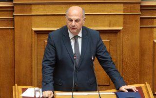 Ο υπουργός Δικαιοσύνης Κώστας Τσιάρας  μιλά στην ολομέλεια της Βουλής ,  Πέμπτη 24  Οκτωβρίου 2019.Πραγματοποιείται στην ολομέλεια της Βουλής συζήτηση και ψήφιση επί της αρχής, των άρθρων και του συνόλου του σχεδίου νόμου: «Επενδύω στην Ελλάδα και άλλες διατάξεις». ΑΠΕ-ΜΠΕ/ΑΠΕ-ΜΠΕ/Παντελής Σαίτας