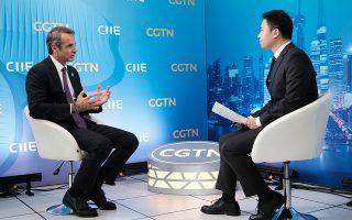 «Η Ελλάδα διαθέτει μεγάλα συγκριτικά πλεονεκτήματα ως εμπορικός κόμβος και τουριστικός προορισμός»,είπε ο κ. Μητσοτάκης σε συνέντευξή του στο κινεζικό δίκτυο CGTN.