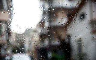 Σταγόνες βροχής πάνω σε τζάμι στην Εύβοια, την Τετάρτη 13 Μαρτίου 2019. Κακοκαιρία με ισχυρές βροχές, καταιγίδες κυρίως στα νότια, χιονοπτώσεις στα ηπειρωτικά ορεινά και τα ορεινά της Κρήτης και πτώση της θερμοκρασίας. ΑΠΕ-ΜΠΕ/ΑΠΕ-ΜΠΕ/ΒΑΣΙΛΗΣ ΑΣΒΕΣΤΟΠΟΥΛΟΣ