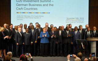 H Γερμανίδα καγκελάριος με συμμετέχοντες στη Σύνοδο Κορυφής.