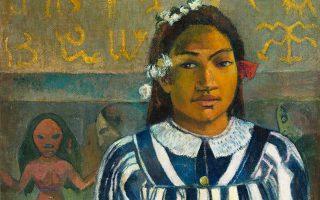 Στον πίνακα «Tehamana has many parents» απεικονίζεται η νεαρή ερωμένη του Γκογκέν.
