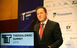 Ο κυβερνητικός εκπρόσωπος Στέλιος Πέτσας μιλάει στο «Thessaloniki Summit 2019», που διοργανώνει ο Σύνδεσμος Βιομηχανιών Ελλάδος, στη Θεσσαλονίκη, Πέμπτη 14 Νοεμβρίου 2019. ΑΠΕ-ΜΠΕ/ΑΠΕ-ΜΠΕ/ΓΡΗΓΟΡΗΣ ΣΙΑΜΙΔΗΣ