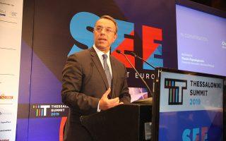 Ο υπουργός Οικονομικών, Χρήστος Σταϊκούρας μιλάει στο «Thessaloniki Summit 2019», που διοργανώνει ο Σύνδεσμος Βιομηχανιών Ελλάδος, στη Θεσσαλονίκη, Πέμπτη 14 Νοεμβρίου 2019. ΑΠΕ-ΜΠΕ/ΑΠΕ-ΜΠΕ/ΓΡΗΓΟΡΗΣ ΣΙΑΜΙΔΗΣ