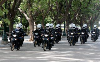 Αστυνομικοί την ομάδας Δράση, Δευτέρα 11 Νοεμβρίου 2019.  Ξενικά σήμερα η νέα ομάδα της Αστυνομίας «Δράση» που αποτελεί στην ουσία την δίκυκλη ΟΠΚΕ. ΑΠΕ-ΜΠΕ/ΑΠΕ-ΜΠΕ/Παντελής Σαίτας