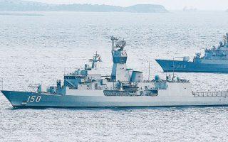 Πριν από λίγες μέρες στο Αιγαίο και στην Ανατολική Μεσόγειο έλαβαν χώρα κοινά γυμνάσια του τουρκικού και του πακιστανικού πολεμικού ναυτικού. ASSOCIATED PRESS