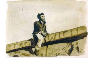 Εργο του Δημήτρη Χαντζόπουλου ύστερα από αποστολή των «Νέων» στο Βερολίνο το 1991.