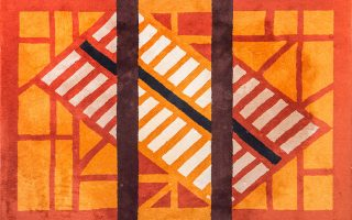 Οπυ Ζούνη, Παραλλαγή 1, 1980, χαλί hand tufted. Συλλογή Αλέξανδρου Ζούνη.