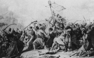 Πιερ Ρεβουάλ, «Ο θρίαμβος του λαβάρου». Εργο εμπνευσμένο από την Ελληνική Επανάσταση. Την ίδια περίοδο οι περισσότεροι λαοί της Λατινικής Αμερικής απέκτησαν την εθνική ανεξαρτησία τους.