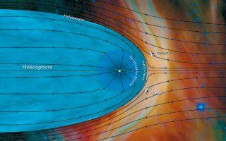 Καλλιτεχνική απεικόνιση της Ηλιόσφαιρας, που έδωσε στη δημοσιότητα η Αμερικανική Υπηρεσία Διαστήματος, σύμφωνα με τα νέα στοιχεία.