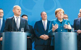 Ο κ. Σολτς, ο οποίος είναι και υποψήφιος για την προεδρία των Σοσιαλδημοκρατών (SPD), δεν έχει εξασφαλίσει τη σύμφωνη γνώμη της καγκελαρίου Αγκελα Μέρκελ.
