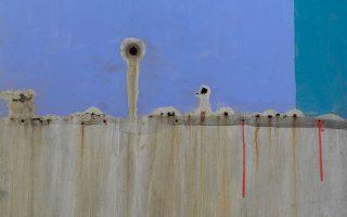 Βασίλης Σκυλάκος, «Χωρίς τίτλο» (τμήμα), 1984, μεικτή τεχνική σε λαμαρίνα. Η Roma Gallery παρουσιάζει την ατομική έκθεση του Βασίλη Σκυλάκου (1930-2000) με τίτλο «Εδώ κι εκεί και παντού». Ρώμα 5, Κολωνάκι.