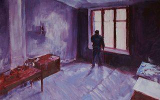 «Πρωινό Φως Με Φιγούρα» (τμήμα) από την πρώτη ατομική έκθεση του Γιώργου Λουλούδη με τίτλο «Καταγωγές». Διάρκεια έκθεσης έως 14 Δεκεμβρίου. Gallery Genesis. Χάρητος 35, Κολωνάκι.