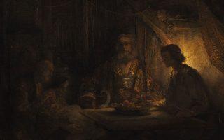 «Ο Δίας και ο Ερμής επισκέπτονται τον Φιλήμονα και τη Βαυκίδα» (1658). Ενα από τα τρία έργα του Ρέμπραντ πάνω στο οποίο επικεντρώνει την ανάλυσή της η ιστορικός τέχνης Ναυσικά Λιτσαρδοπούλου.