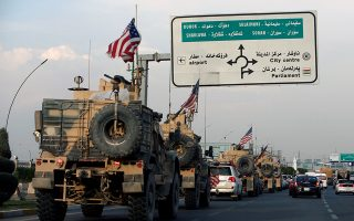 A convoy of U.S. vehicles is seen after withdrawing from northern Syria, in Erbil, Iraq October 21, 2019. REUTERS/Azad Lashkari - RC13EE9DCA60