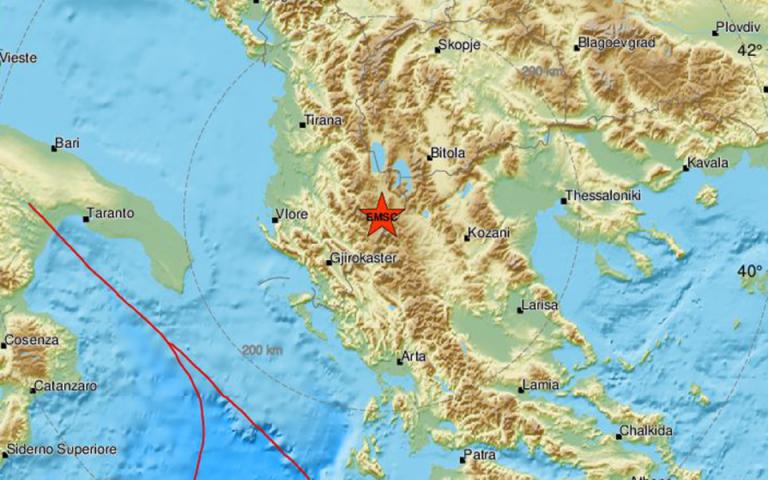 Σεισμός 4,8 Ρίχτερ στην Αλβανία