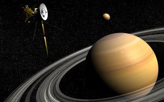 To Cassini «φωτογράφισε» τον μικρό Τιτάνα, δορυφόρο του Κρόνου