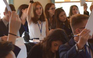 Στη διήμερη προσομοίωση μετείχαν 96 μαθητές από 16 σχολεία από όλη την Ελλάδα με τους συνοδούς καθηγητές τους.