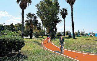 Οι ποδηλάτες θα κάνουν τη βόλτα τους στην παραλιακή ζώνη της Πάτρας, δίπλα ακριβώς από τη θάλασσα.