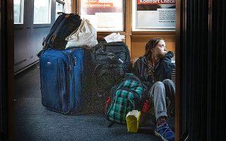 Η επίμαχη φωτογραφία, με την Γκρέτα καθισμένη στο πάτωμα γερμανικού τρένου, προκάλεσε ανταλλαγή μηνυμάτων της ακτιβίστριας με την DB.