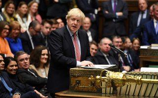 Ο Βρετανός πρωθυπουργός Μπόρις Τζόνσον κάνει δηλώσεις, στην πρώτη συνεδρίαση της Βουλής των Κοινοτήτων μετά τις πρόσφατες εκλογές.