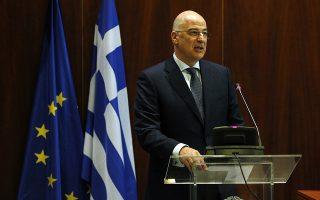 Ο υπουργός Εξωτερικών Νίκος Δένδιας μιλάει προς του Πρέσβεις σε ημερίδα που γίνεται στο Υπ. Εξωτερικών, Παρασκευή 20 Δεκέμβριου 2019. ΑΠΕ-ΜΠΕ/ΑΠΕ-ΜΠΕ/ΑΛΕΞΑΝΔΡΟΣ ΒΛΑΧΟΣ