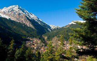 Το ορεινό χωριό Αθανάσιος Διάκος στη Φωκίδα. (Φωτογραφία: ΚΛΑΙΡΗ ΜΟΥΣΤΑΦΕΛΛΟΥ)