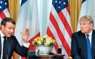 Σε ανοικτή σύγκρουση κατά τη διάρκεια των δηλώσεών τους χθες στο Λονδίνο ήρθαν οι πρόεδροι ΗΠΑ και Γαλλίας, επιβεβαιώνοντας το ρήγμα στο εσωτερικό του ΝΑΤΟ. «Θα ήθελες μερικούς ωραίους μαχητές του ISIS; Μπορώ να σου τους στείλω», είπε ο Ντόναλντ Τραμπ, με τον Εμανουέλ Μακρόν να απαντά: «Ας είμαστε σοβαροί». Ο Αμερικανός πρόεδρος εμφανίστηκε επικριτικός έναντι της Ε.Ε., ενώ επιφύλαξε θετικά σχόλια για τον Ερντογάν.