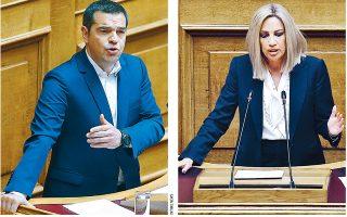 Ο Αλέξης Τσίπρας κατηγόρησε τον πρωθυπουργό για πολιτική «αδράνειας και κατευνασμού», ενώ η Φώφη Γεννηματά είπε πως «έχουμε φύγει από την προκλητική ρητορική της Τουρκίας και έχουμε ενέργειες που δεν πρέπει να αφήσουμε να οδηγήσουν σε τετελεσμένα».