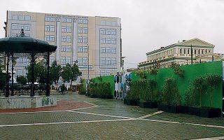 Το κτίριο της Ραλλείου, αντικείμενο πολυετούς δικαστικής διαμάχης, πρόσφατα αποφασίστηκε ότι θα δεχθεί το μεγαλύτερο μέρος των δικαστικών υπηρεσιών του Πειραιά.