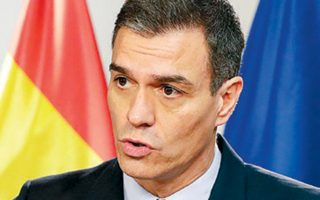 Ο Ισπανός υπηρεσιακός πρωθυπουργός Πέδρο Σάντσεθ μιλάει στη Σύνοδο Κορυφής της Ε.Ε.