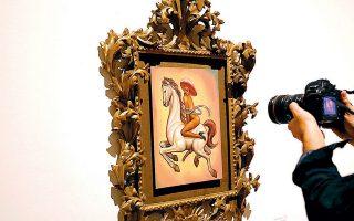 Ο πίνακας, που απεικονίζει τον ηγέτη της αγροτικής μεξικανικής επανάστασης να ιππεύει άλογο γυμνός, φορώντας μόνο ψηλά τακούνια και ροζ καπέλο, έγινε αιτία για βίαια επεισόδια στην Πόλη του Μεξικού.