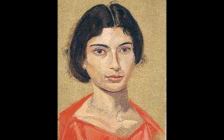 Γιάννης Τσαρούχης, «Πρώτο πορτρέτο της Δέσποινας», 18 χρόνων, 1967. Λάδι σε πανί.